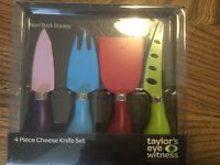 Cheese Knife Set 4 Piece. NEW!!!!