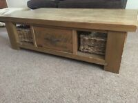 Next Hartford Coffee Table with 2 Baskets