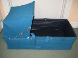Turquoise Blue Carry Cot - with handles either side for ONLY £5.00