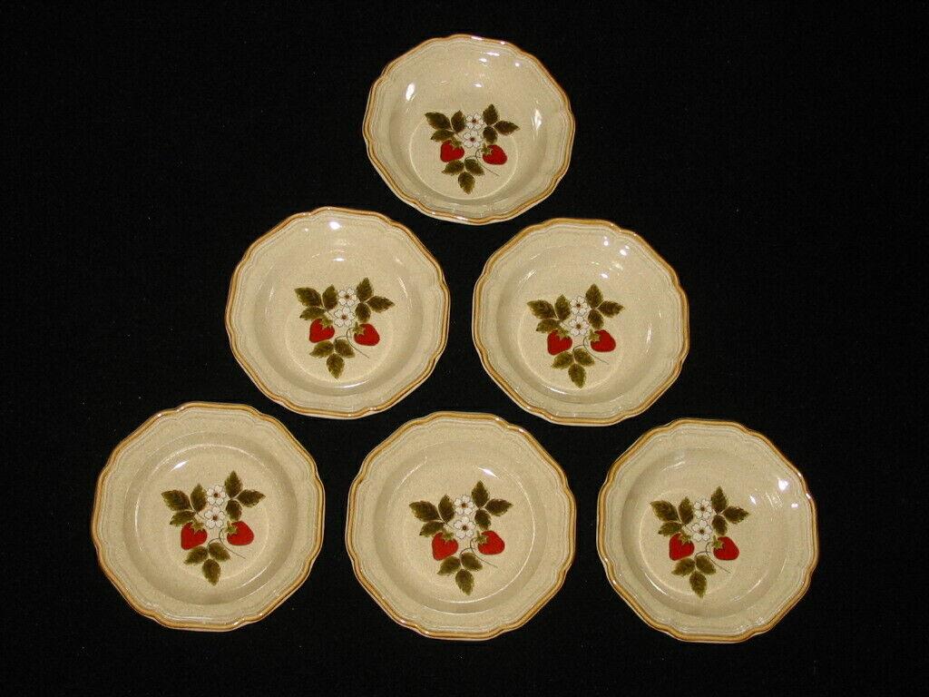 UNUSED Set Lot 6 Mikasa STRAWBERRY FESTIVAL 8 1/2 Soup Cereal Bowls EB 801 2 - $29.99
