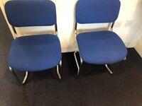 Chrome Frame Conference Chairs for sale