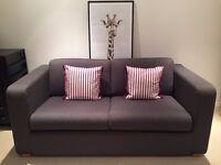 Habitat 2 Seater Sofa Bed Porto in Charcoal Fabric