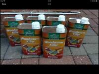 Solvented woodworm killer. 6 x 1l