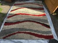Shaggy rug use v,good condition size 190X135cm used £15/