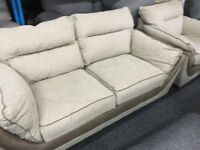 New/Ex Display Dfs Fabric 2 Seater Sofa + 1 Seater Sofa