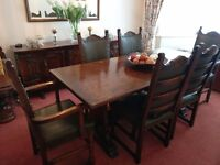 Dining room suite six seater plus sideboard