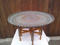 Morrocan / Eastern brass table