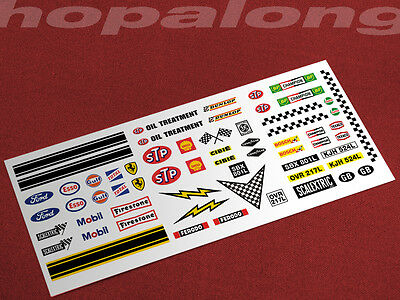 Scalextric/Slot Car 1/32 scale Waterslide Decals. ws020