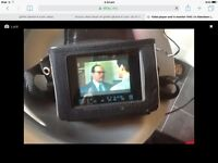 Travel video VHS player and tv monitor