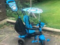 Blue 3 in one bike
