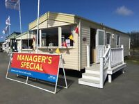 MANAGERS SPECIAL used static caravan with 3 bedrooms for sale in Borth, Aberystwyth, Mid Wales