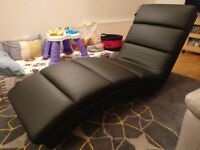 Leather Black Chaise - Bought from Furniture Village originally