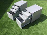 Metal Pedestal Drawers x 2