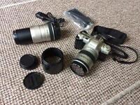 Pentax MZ-50 (spares/repairs) + 28-80 and 100-300 lens