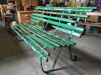 Antique Victorian Garden Bench with sprung back