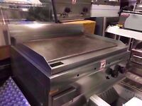 FLAT COMMERCIAL MEAT BBQ GRILL CATERING MACHINE STEAK KITCHEN RESTAURANT DINER OUTDOORS CAFE SHOP