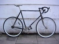 Falcon Fixie, Black, Old School XL Steel Lugged Frame, Single Speed, JUST SERVICED / CHEAP PRICE!!!!