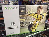 Microsoft Xbox One S (Slim) 500GB Fifa 17 Glacier White Console Bundle New Boxed