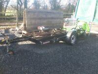 CAR TRANSPORTER trailer single wheel braked