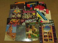 Huge selection of 42 Vinyl Pop and Rock Compilation Albums