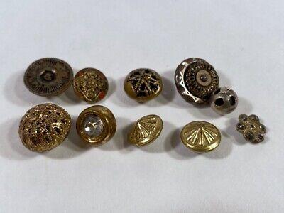Vintage Antique victorian 1800/'s Cut Steel Button.