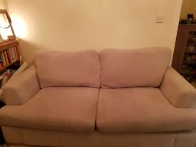 Silver/grey 3 seater DFS sofa, good condition. 3 years old. Stain guarded when bought