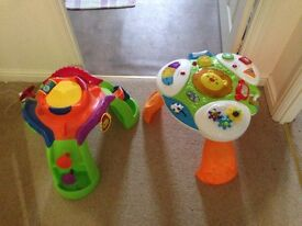 Activity table and ball popper table
