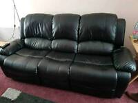 Leather Recliner Suite