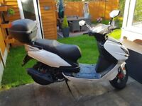 Lexmoto Fmx 125 scooter, low mileage, with power upgrades
