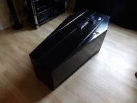 Black Wooden Coffin / Sweet Cart For Wedding / Coffee Table