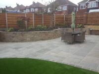 garden clearences- bushes/trees cut back, landscaping, paving