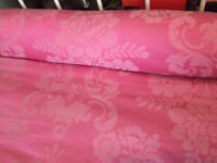 Laura Ashley Single Pink Tatton Duvet Cover, pillow cases and bolster cushion