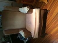 Two wing back chairs for sale