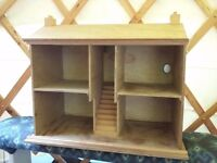 Wooden hand made dolls house
