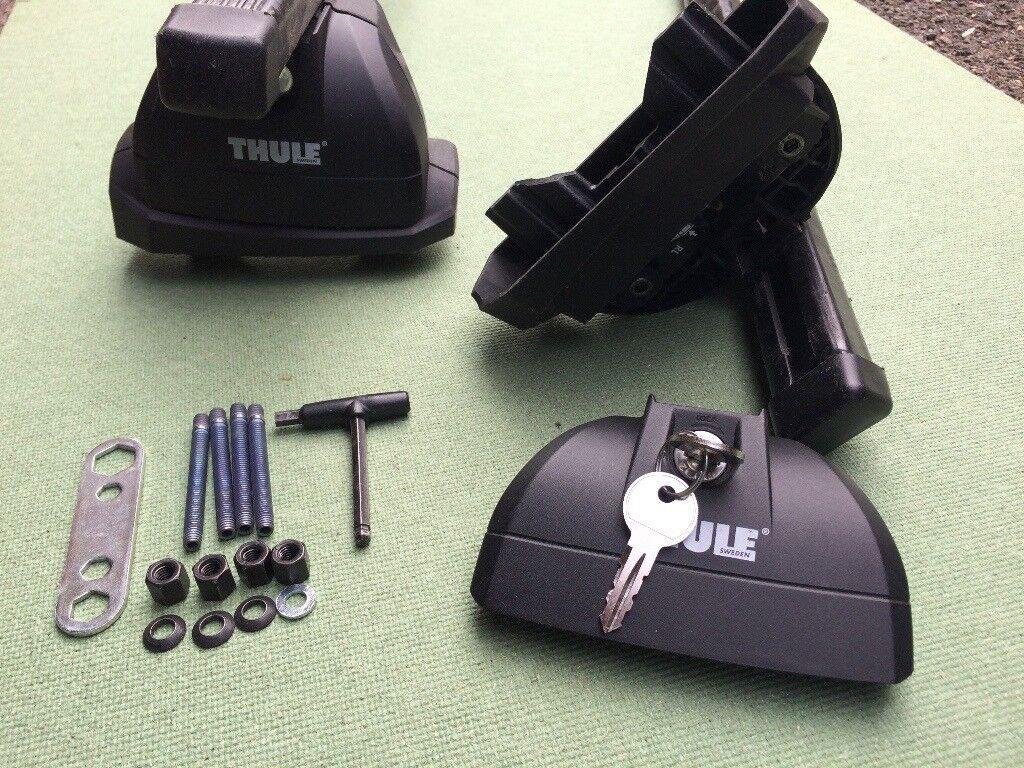thule roofbar footpack kit lockable thule rapid system 753 thule xt kit 3028 in frimley. Black Bedroom Furniture Sets. Home Design Ideas
