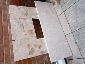 Marble Fireplace surround x2 plus Hearth