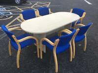 Boardroom table plus 6 chairs