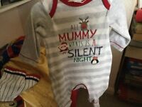 Christmas baby grows brand new and tagged