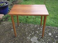 Teak side table.