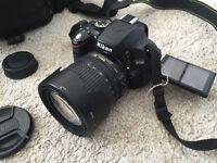 Nikon DSLR Camera D5100 with AF-S Nikkor 18-105 lense and accessories