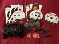 PlayStation 2 replacement controller parts + 3 games