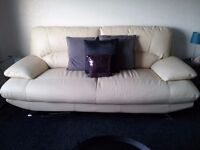 Almost NEW - Leather SOFA + large CHAIR