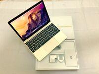 MacBook M Retina Display Gold colour 265GB SSD 8GB Intel HD Graphics 5300 1536 MB apple warranty