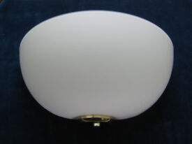 TWO MATCHING JOHN LEWIS VERY SMART WHITE HALF MOON WALL LIGHTS