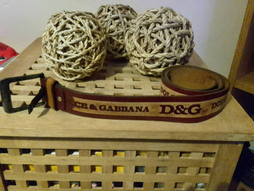 NEW GENUINE DOLCE AND GABBANA LEATHER VINTAGE BELT