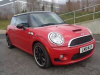 2010 MINI COOPER S AUTOMATIC PETROL, SAT-NAV , FULL LEATHER SEATS, 2 KEYS, FSH, 3 MONTHS WARRANTY