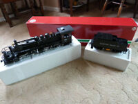 LGB GARDEN RAILWAY TRAIN SUMPTER VALLEY LOCOMOTIVE & TENDER - AS NEW
