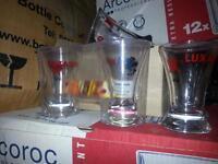 12 Luxardo shot glasses new