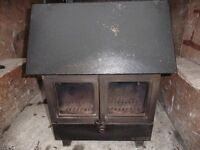 MULTI FUEL COAL/LOG BURNING STOVE WITH HOT WATER CONNECTIONS