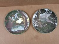 2 x Royal Doulton Scenery Plates - Price the pair - approx 12 inch - stamped to reverse -